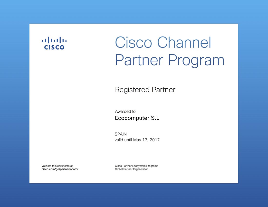 Certificado CISCO