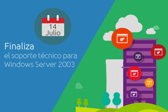 El soporte de Windows 2003 Server finalizará en Julio de 2015