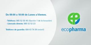 Nuevos teléfonos para soporte a Oficina de Farmacia (EcoPharma)